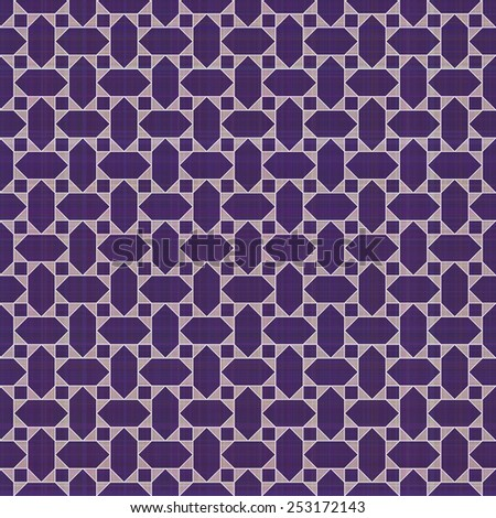 Retro violet ornate mosaic seamless plaid, raster version - stock photo