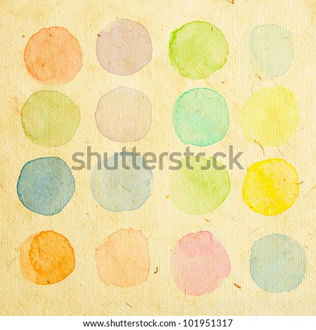 Retro water color test brush - stock photo