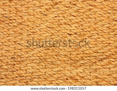 Retro woven wood rattan background - stock photo