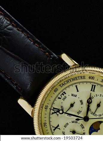 Retro wristwatch - macro - stock photo