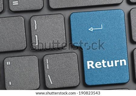 Return key on keyboard - stock photo