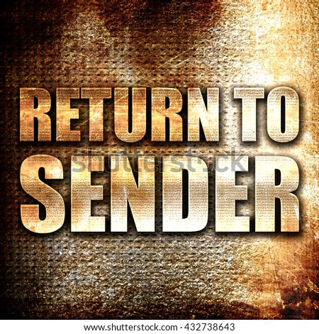 Return To Sender Stock Photos Images Amp Pictures