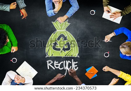Reuse Recycle Ecology Environment Go Green Meeting Concept - stock photo