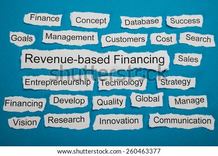 Revenue-based Financing Text On Piece Of Paper Salient Among Other Related Keywords - stock photo