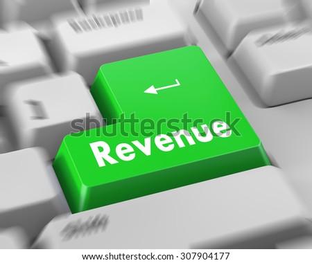 Revenue button on computer keyboard keys - stock photo