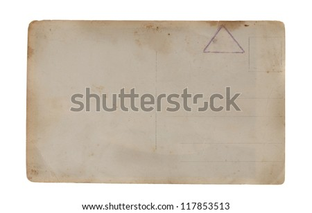 Reverse side of an old photo - stock photo