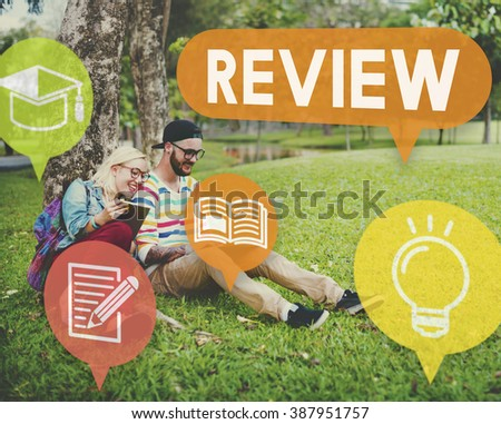 Review Assessment Auditing Evaluate Concept - stock photo