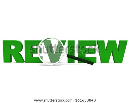 Review Word Showing Assessment Evaluating Evaluates And Reviews - stock photo