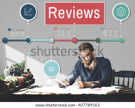 Reviews Evaluation Inspection Assessment Auditing Concept - stock photo