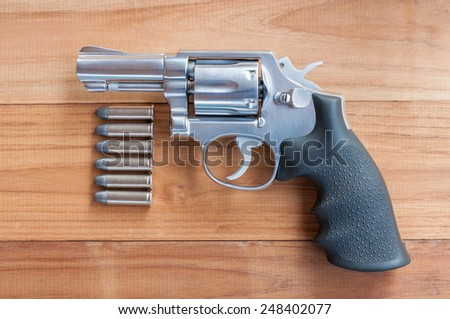 Revolver and bearing, smith & wesson .38 special - stock photo