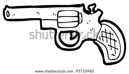 revolver cartoon (raster version) - stock photo