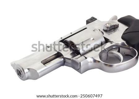 Revolvers on white backgroun - stock photo