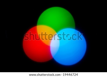 RGB color combination - stock photo