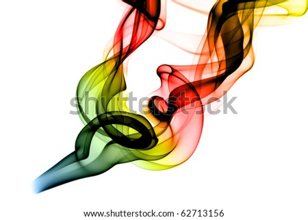RGB Fume Abstract shape over the white background - stock photo