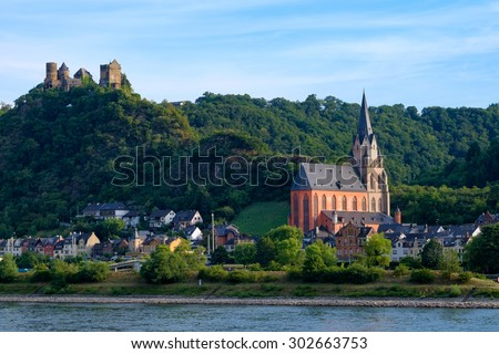 Rhine Valley nearby Oberwesel/Germany - stock photo