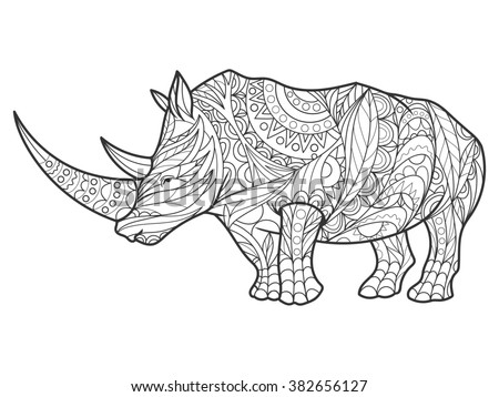 Black Rhinoceros Stock Illustrations & Cartoons | Shutterstock
