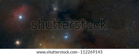 Rho Ophiuchus Nebula - stock photo