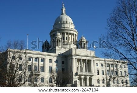 Rhode Island State Capitol in Providence, RI - stock photo