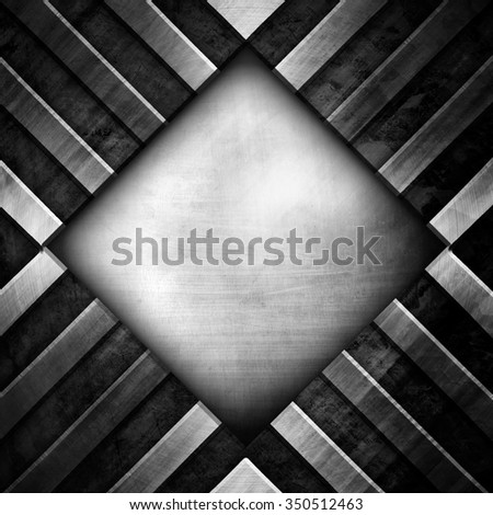 rhombus metal design background - stock photo