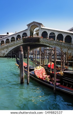 Rialto Bridge, Grand Canal, Venice, Italy - stock photo