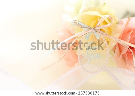 ribbon and fabric for background image - stock photo