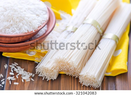 rice and rice noodles - stock photo