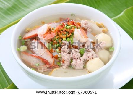 Rice Noodle Soup - stock photo