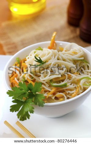 rice noodles - stock photo