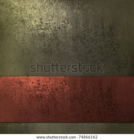 rich brown background in warm earth tones with corner lighting, muddy grunge texture, rustic red ribbon stripe , and copy space to add your own text or title - stock photo