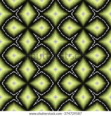Rich colorful pastel ornament. Seamless pattern or textures. Kaleidoscopic orient popular style - stock photo