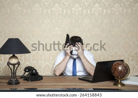 rich investors reached crisis - stock photo