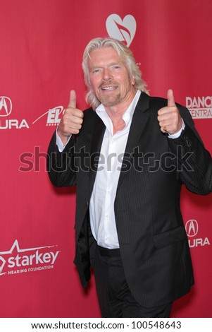 Richard Branson at the 2012 MusiCares Person Of The Year honoring Paul McCartney, Los Angeles Convention Center, Los Angeles, CA 02-10-12 - stock photo