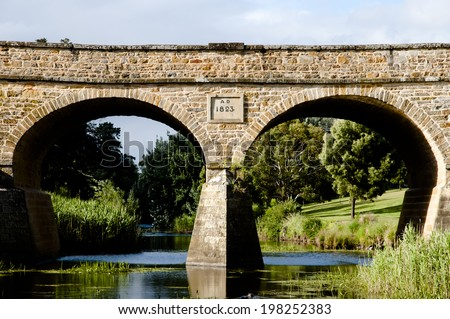 Richmond Bridge - Tasmania - Australia  - stock photo