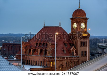 Richmond Historic Main Street Train Station on the National Landmark Listing - stock photo