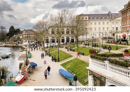 Richmond Upon Thames, England on 6th March 2016:The London Borough of Richmond upon Thames in London, forms part of Outer London and is the only London borough on both sides of the River Thames. - stock photo
