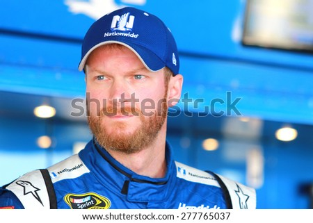 Richmond, VA - Apr 24, 2015:  Dale Earnhardt Jr. (88) prepares for practice for the Toyota Owners 400 race at the Richmond International Raceway in Richmond, VA. - stock photo
