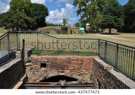 RICHMOND, VA - SEP 8: Richmond National Battlefield Park in Virginia, as seen on Sep 8, 2015. It was listed on the National Register of Historic Places on October 15, 1966. - stock photo