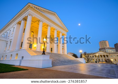 Richmond, Virginia, USA at the Capitol Building. - stock photo