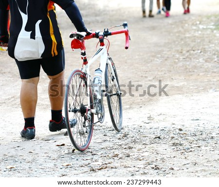 ride bycicle - stock photo