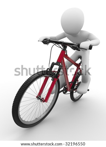 Ride that bike concept - stock photo