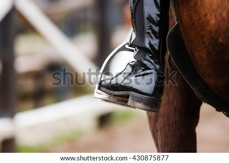 Rider and his horse - stock photo