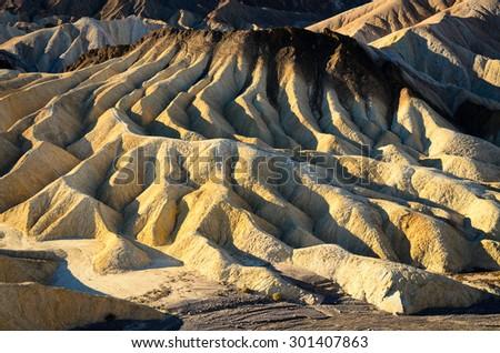 Ridge, Death Valley National Park - stock photo