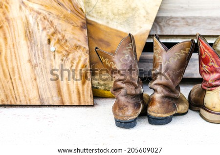 Riding boots , cowboy boots - stock photo