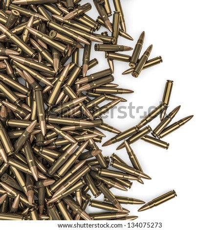 Rifle bullets spill - stock photo
