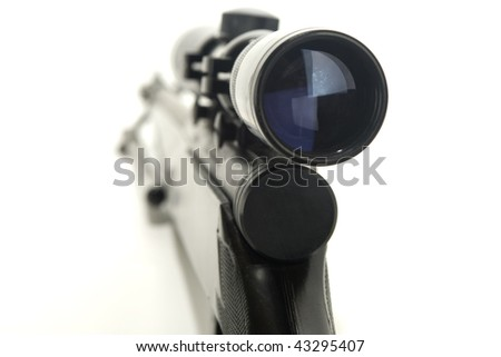 Rifle with scope - stock photo