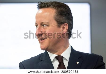RIGA, LATVIA - May 22, 2015: Eastern Partnership Sammit. British Prime Minister David Cameron - stock photo