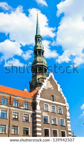 Riga, St. Peter�s Cathedral - stock photo