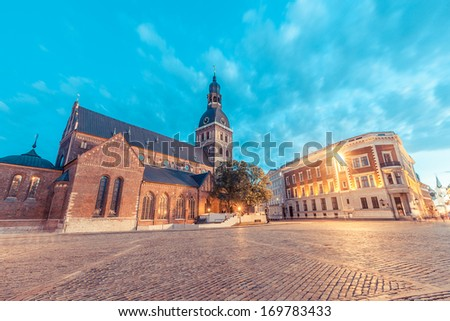 Rigas Doms, Cathedral of Riga City - stock photo