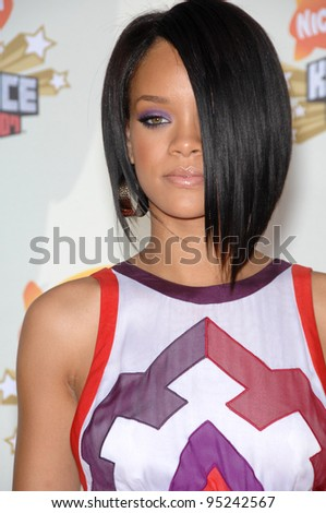 Rihanna at Nickelodeon's 20th Anniversary Kids' Choice Awards at UCLA's Pauley Pavilion in Los Angeles. March 31, 2007  Los Angeles, CA Picture: Paul Smith / Featureflash - stock photo