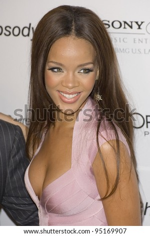 RIHANNA at the Clive Davis pre-Grammy Party at the Beverly Hilton Hotel. February 11, 2007  Beverly Hills, CA Picture: Paul Smith / Featureflash - stock photo